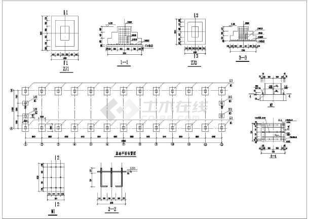 某地单层门式刚架结构仓库建筑结构施工图