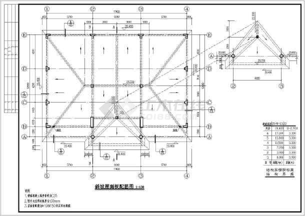 某地6层结构农村全套别墅框架施工图小外墙砖别墅结构图片