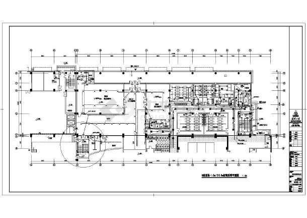 某场智应急系统照明施工配电格式_cad图cadt6图纸中图片