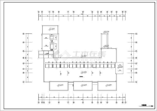 某地三层幼儿园建筑方案设计图(9班)