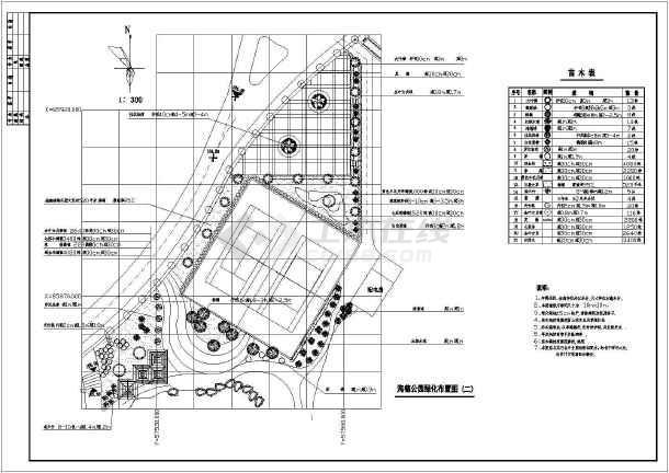 某地海德公园绿化设计及土建设计图纸