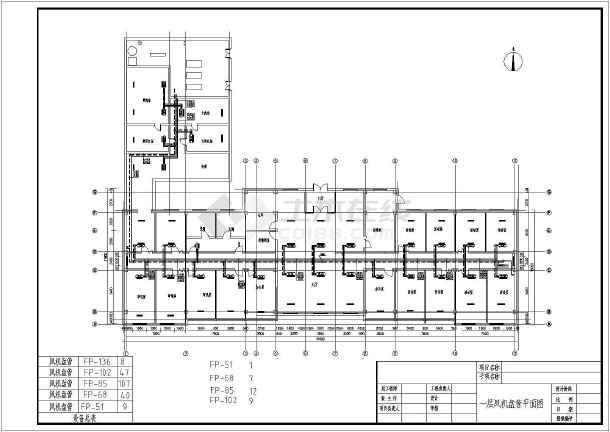 某八层办公楼风机盘管加新风空调系统暖通设计图图片