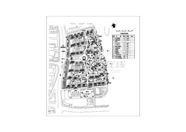 某地小区建筑规划设计方案及总平图 图5 高清图片