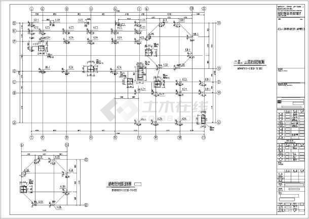 本工程为南京市三层框架结构幼儿园,图纸包括:结构设计说明,桩位布置