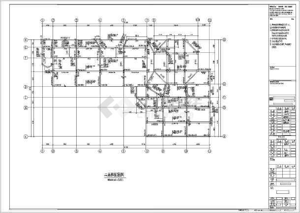 南京市三层框架结构幼儿园结构施工图