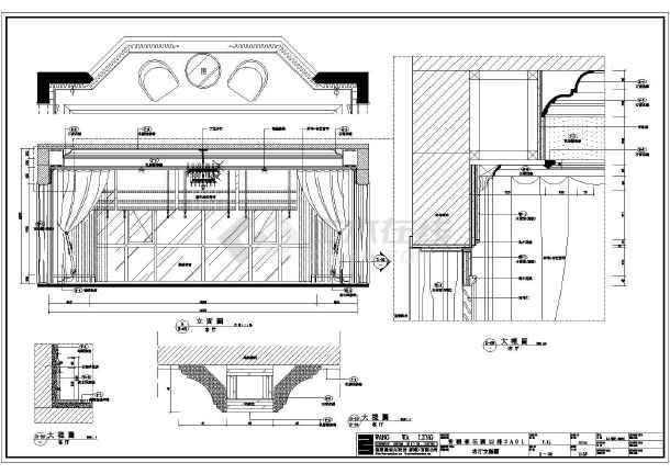 香榭里花园某户主室内设计施工图纸