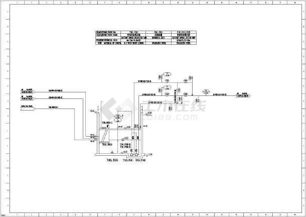 某地工业废水工艺处理站图纸流程图_cad污水cad出来复制怎么办不啊图片