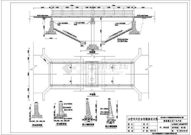 各种样式图纸设计桥机耕桥生产施工图_cad图新建cad农村标注长度图片