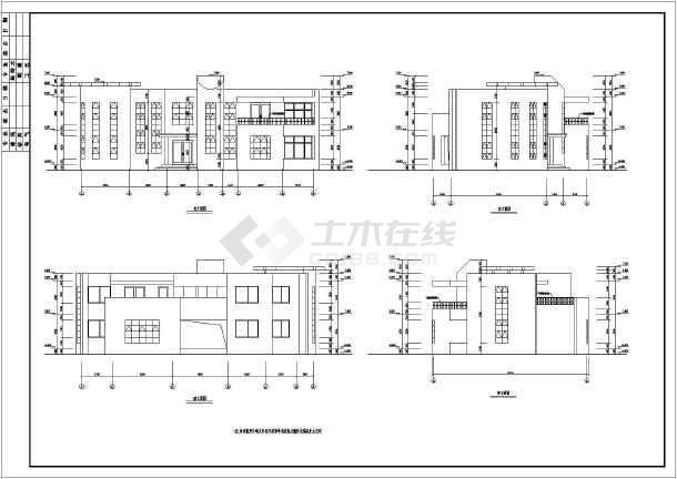 某地区二套二层砖混结构别墅建筑设计方案图纸