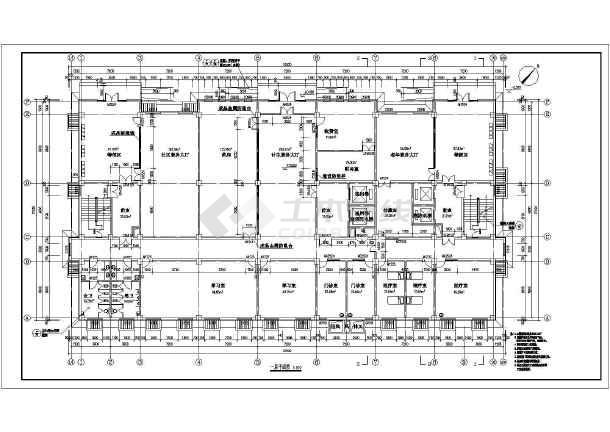 某地区10层医院综合楼建筑设计平面图高清图片