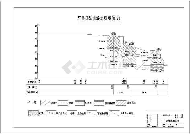 某地区防洪堤坝水利工程设计施工图纸-图2
