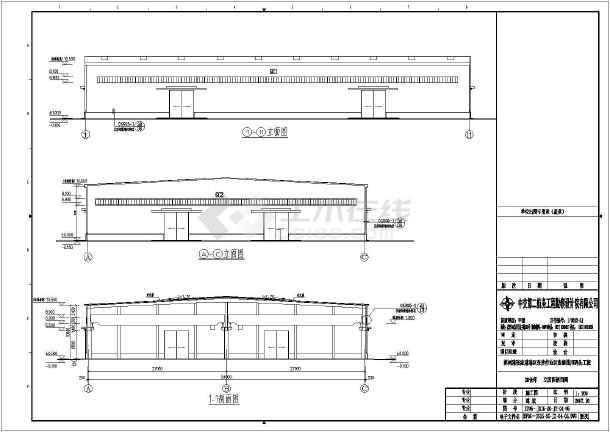 立面图 剖面图,结构设计总说明,桩位及承台平面布置图 ,承台结构详图