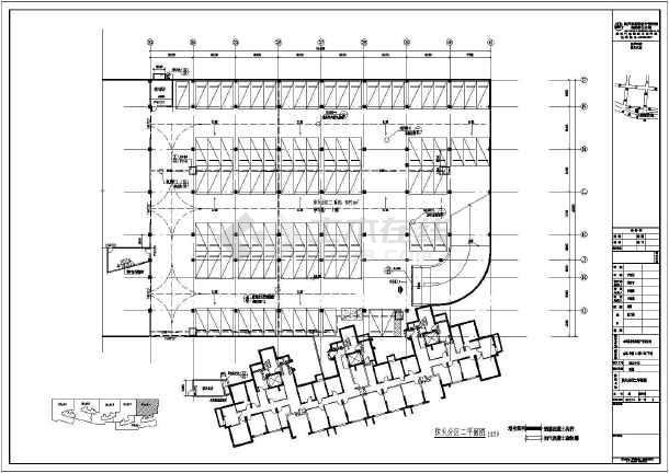 某地金泰华城地下车库建筑设计施工图_cad图tflexcad图片