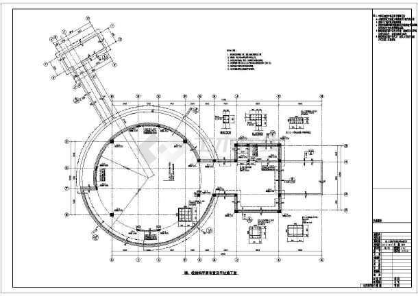 基础底板平面布置图,墙,柱结构平面布置及平法施工图,地下室外墙剖面