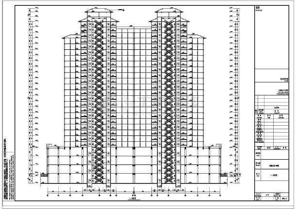 某地25层结构框架商住楼建筑设计施工图_cadcad视口快捷键布局新建图片