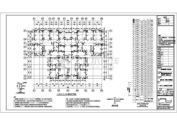 灞】32层大型建筑地下两层车库楼梯基础结框架栏杆cad图立面图片