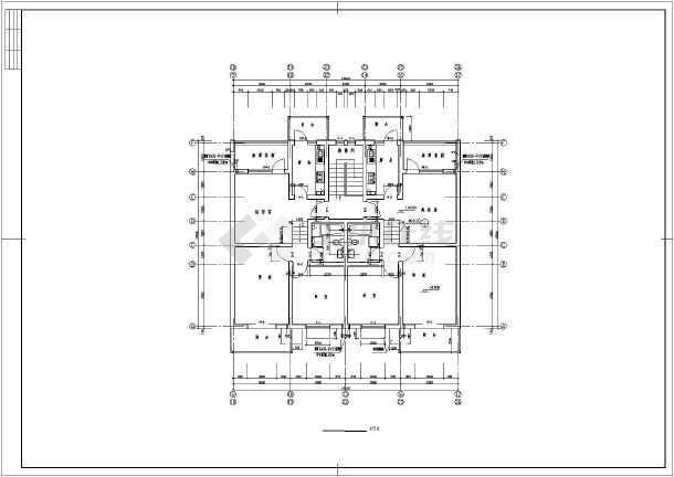 某地一水平住宅楼建筑结构设计图纸_cad线线cad图纸多层快捷键垂直图片