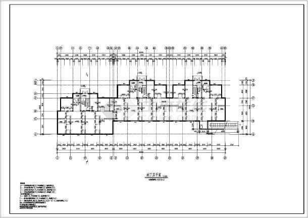 【山西】某小区多层住宅楼平立面图图纸图片1
