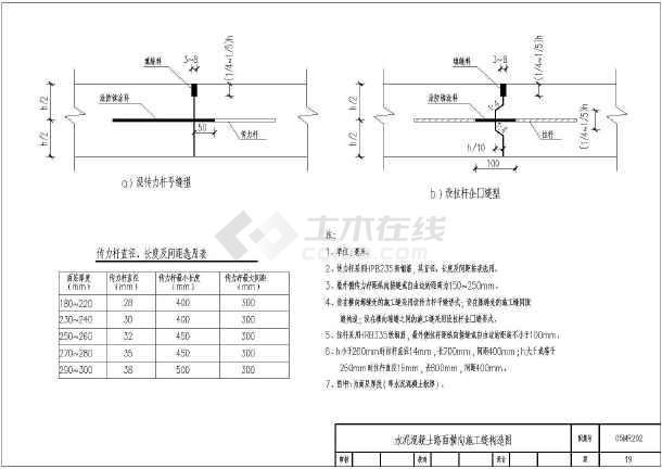 水泥城市混凝土道路图纸施工设计电气_cad图吨15吊车图纸路面图片
