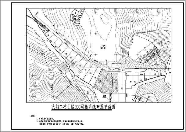 RCC碾压混凝土坝主坝施工技术措施图纸-图1