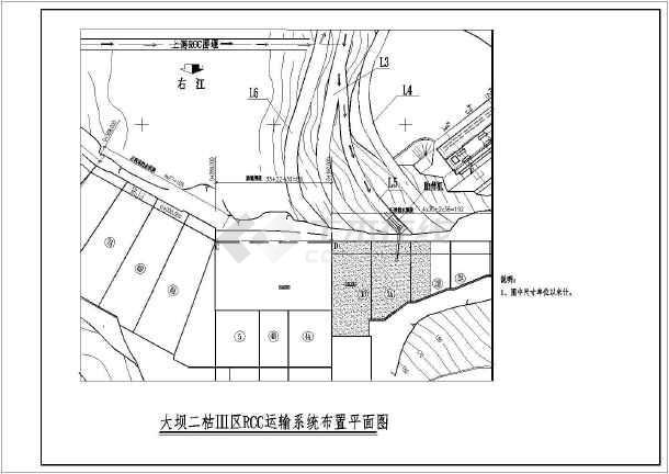 RCC碾压混凝土坝主坝施工技术措施图纸-图3