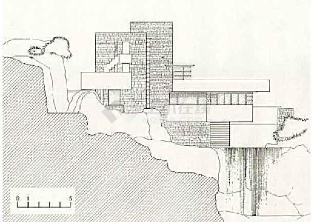 图纸 建筑图纸 别墅图纸 别墅设计图 流水别墅效果图