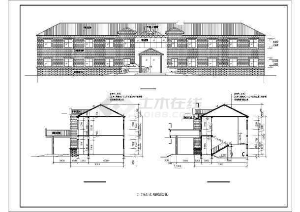 结构砖混屋顶坡女生办公楼结构设计施工图二层适合做室内设计吗图片