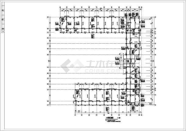 某6层框架大跨度厂房结构设计施工图