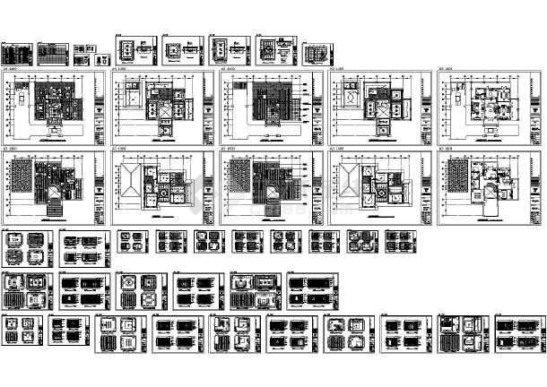 精品别墅室内装修施工图 图1高清图片