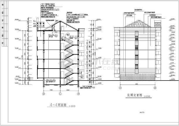 某五层砖混结构住宅建筑设计施工图