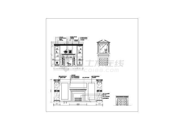 排版)  简介:本图纸为欧式风格室内装修部件及摆设设