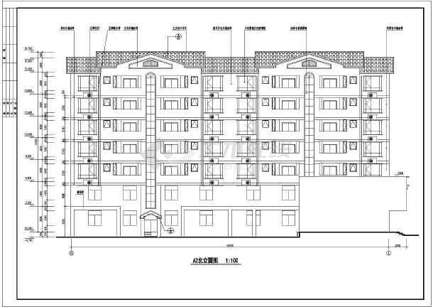 某七层框架结构住宅楼建筑施工图纸