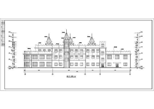 建筑图纸 教育建筑 幼儿园设计 某地三层框架结构幼儿园建筑设计施工