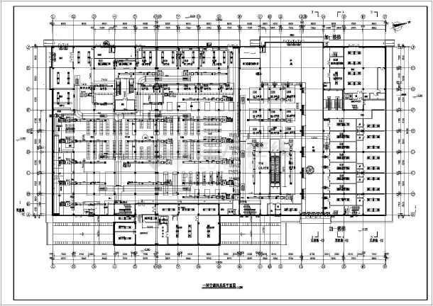 抚顺某3层商场空调通风设计施工图