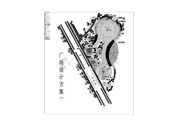 该图为一套广场总平面图,包括文化广场,演艺广场,音乐喷泉广场.