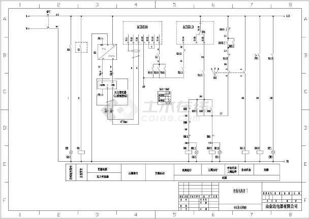 acs510变频器恒压供水一拖三一二次图设计
