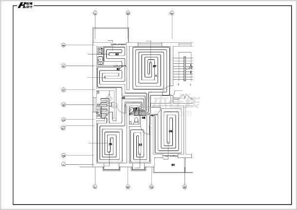 采用低温热水地板敷设采暖系统,热媒由锅炉房提供,厨房预留排烟洞接排图片