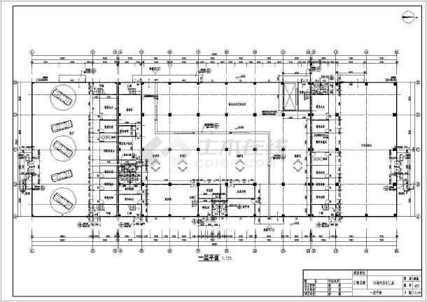 某地两层框架结构4s店建筑与结构施工图