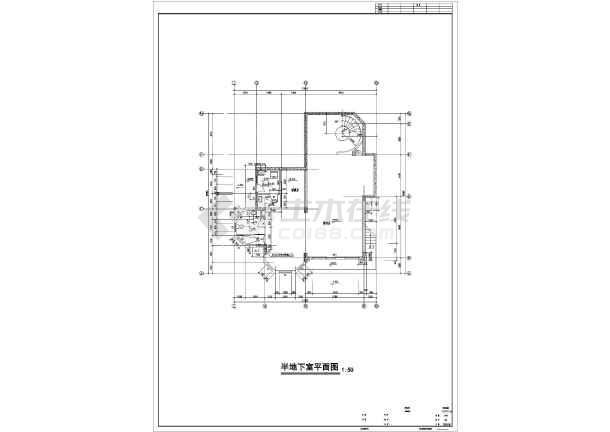 某小区三层欧式别墅建筑设计施工图