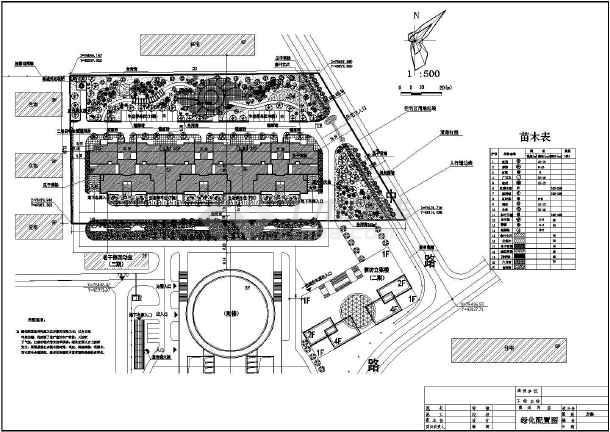 某住宅小区的绿化总规划平面布置图