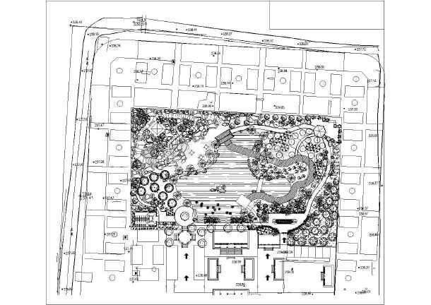 某地古建风景区景观设计方案平面图纸