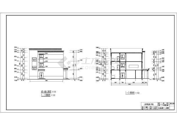 三明学院五层框架结构教学楼建筑设计图