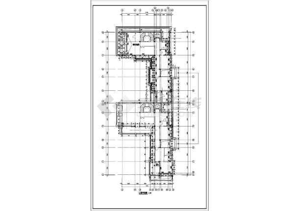 排别墅建筑设计图  简介:本是欧式联排别墅,图纸内容:一层,二层平面图