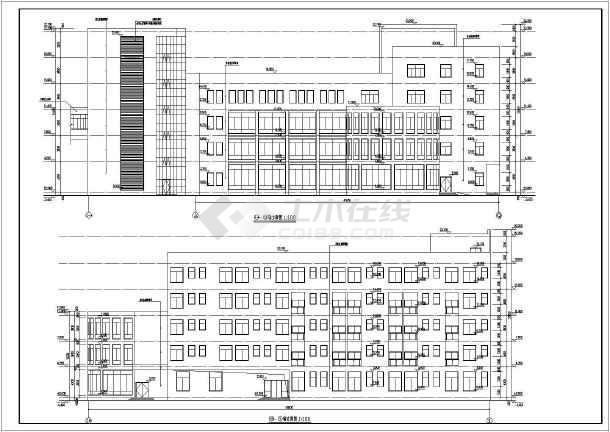 乐平市5层框架结构医院附属楼建筑施工图