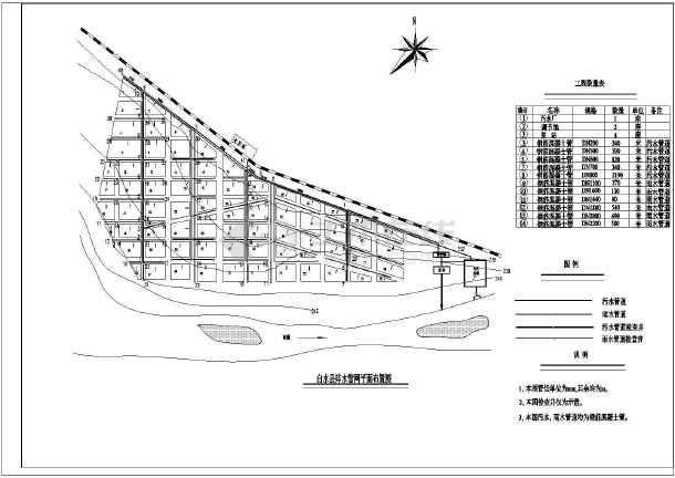 某污水处理厂cass工艺流程图平面布置图