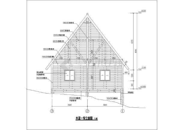 奉节三套小别墅木结构建筑设计施工图-图1
