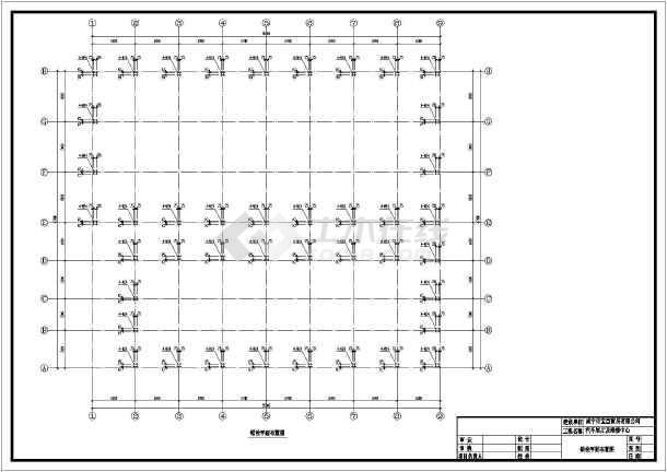 包括:钢结构设计说明,底层,屋顶平面图,各外立面图,锚栓平面布置图