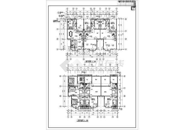 某地三层图纸式联排别墅v图纸施工图(含效果图注塑制品民居图片
