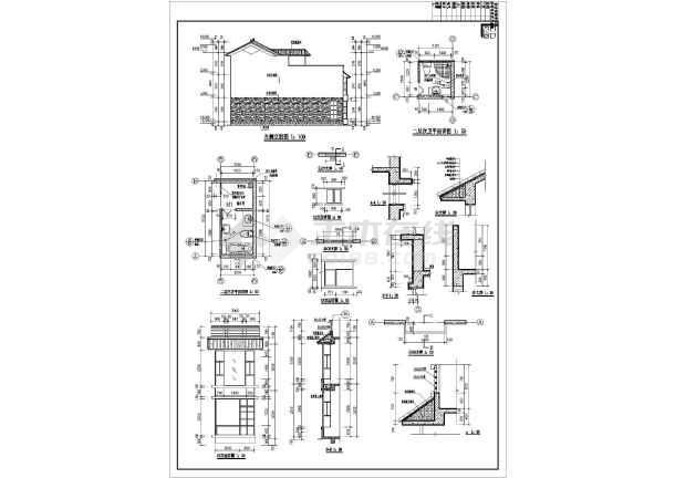 某地三层民居式联排别墅设计施工图(含效果图图纸绝版锻造图片