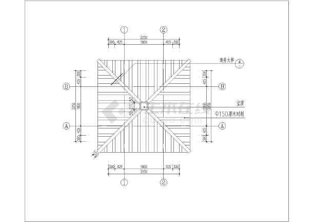 入口景观构架完整施工图(木结构)